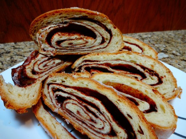 Cinnamon Roll Bread - Sliced and Sectioned